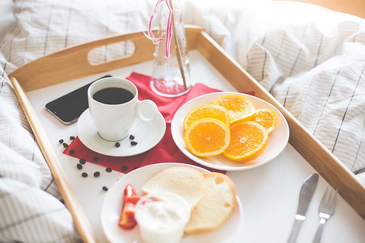 Romantic Breakfast In Bed