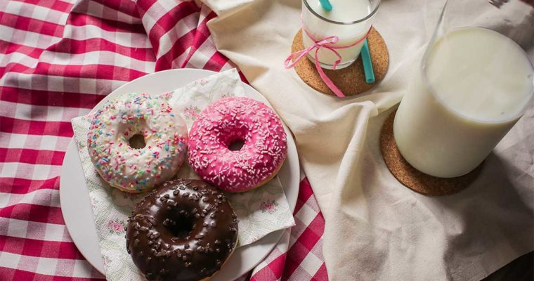 Yummy Donuts and Milk